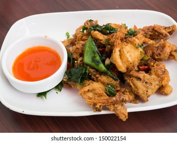 Stir fried Soft Shell Crab with basil