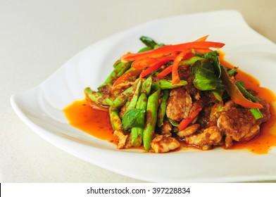 stir fried spicy pork