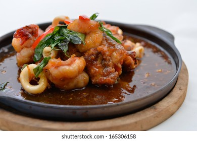 Stir Fried Squid and shrimp with Roasted Chili Paste