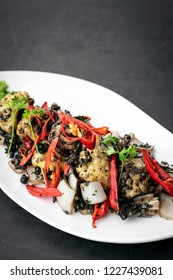 stir fry fresh spicy squid with kampot pepper famous khmer dish in cambodia