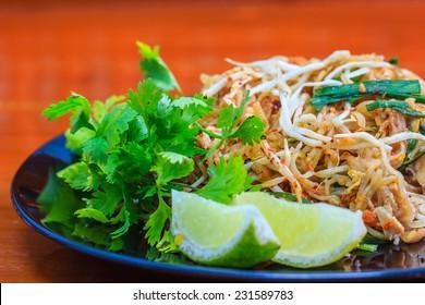 Stir fry noodles, Thai food Pad thai