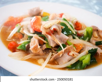 stir fry sunfish's  intestines