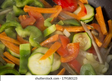 Stir frying organic vegetables