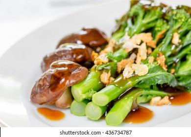 Stir-Fried Broccoli in dish