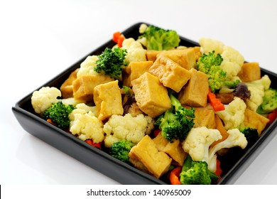 Stir-fried mixed vegetables.