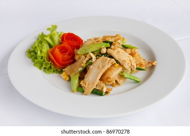 Stir-fried noodles, soy sauce, thaifood
