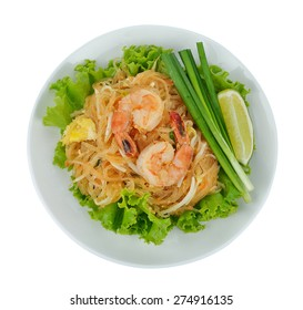 Stir-fried rice noodles (Pad Thai) is the popular food in Thailand.