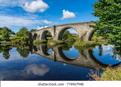 Stirling Bridge, Scotland, scene of the historic Battle of Stirling Bridge where Scots led by William Wallace defeated the English in 1297