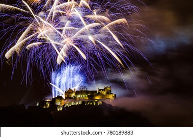 Stirling Castle firework display for hogmanay (new year) back in 2014.