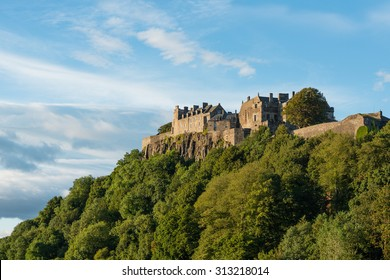 Stirling Castle from the West in late afternoon autumn sunshine.