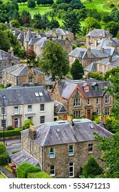 Stirling city seen from above, Scotland, United Kingdom, Great Britain