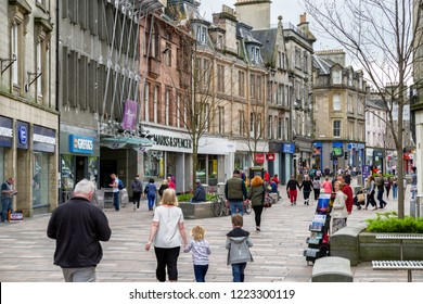 STIRLING, SCOTLAND - MAY 20: Centre of city Stirling on  May 20, 2018 in Stirling