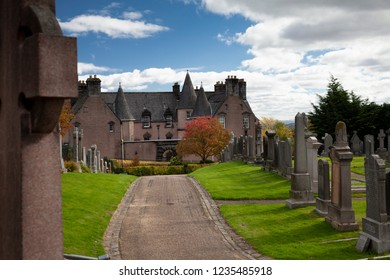 Stirling, Scotland - September 28 2018: the old Stirling cemetery