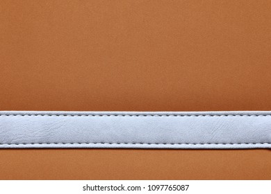 stitched leather frame brown color texture background