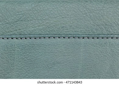 Stitching on natural leather  background