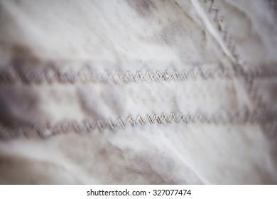 stitching thread sail closeup