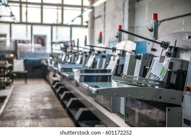 stitching and trimming line in the printing-house