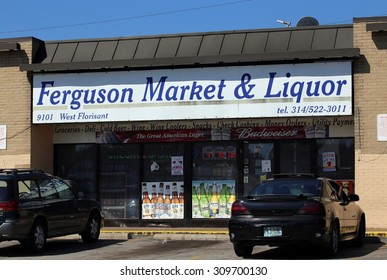 ST.LOUIS - AUGUST 21: Ferguson Market & Liquor in St. Louis, Missouri on August 21 2015. The store was allegedly robbed by Michael Brown which ultimately led to his death at the hands of the police.
