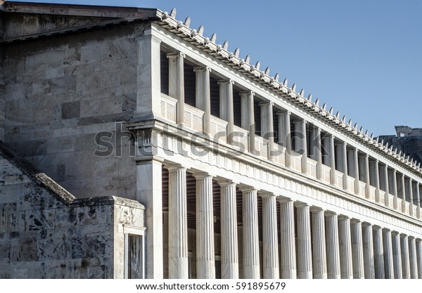 The stoa of Attalos, ancient agora Athens Greece