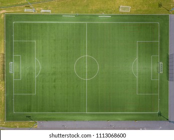Stock aerial photo of football field