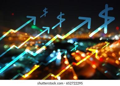 stock chart,graph