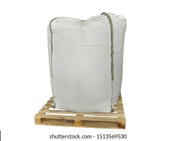 Stock Chemical fertilizer  jumbo-bag on the White Background waiting for shipment.