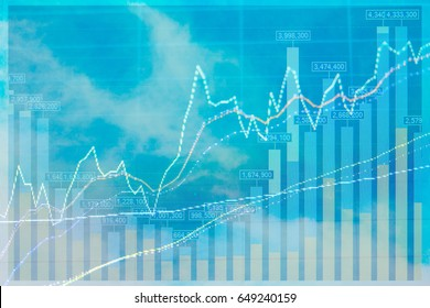 Stock Excange Market Analysis Background. Concept : finance, Banking, Economic and Stock Market.