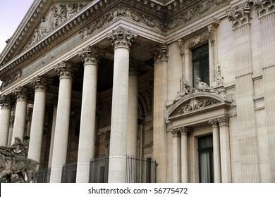 Stock Exchange building, Bourse of Brussels, Belgium, Europe