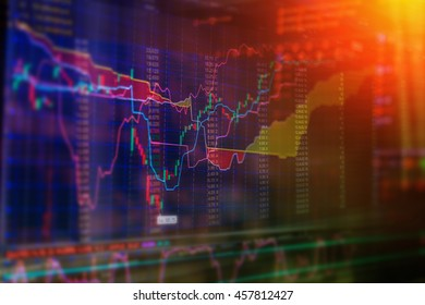 Stock exchange chart graph. Finance business background. Abstract stock martet diagram candlebars trade