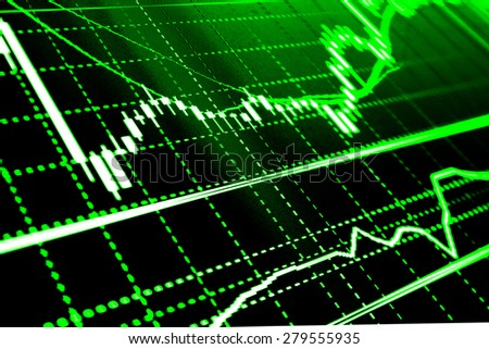 stock exchange chart graph finance business stock photo edit now
