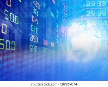 stock exchange graph background