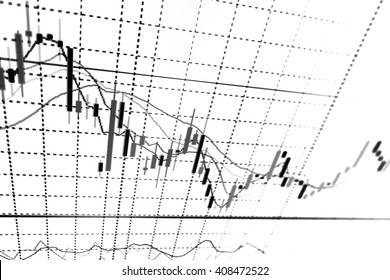 Stock exchange graph.Candle stick graph chart. Finance concept.