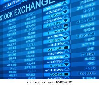 stock exchange rates