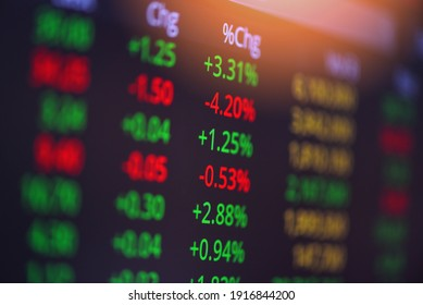 Stock exchange trading analysis investment financial on display crisis stock crash down and grow up gain and profits financial impact or forex graph Stock market digital graph chart business indicator - Shutterstock ID 1916844200
