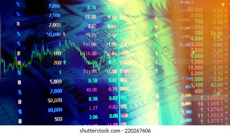stock and  finance concept with graph