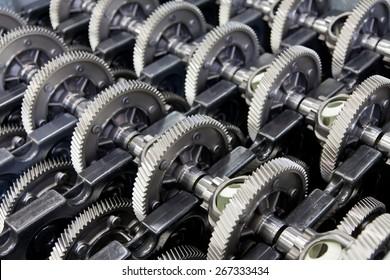 Stock of gear wheels