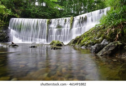 The Stock Ghyll Force waterfall in Ambleside, Cumbria, England