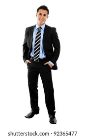 Stock image full shot of businessman isolated on white