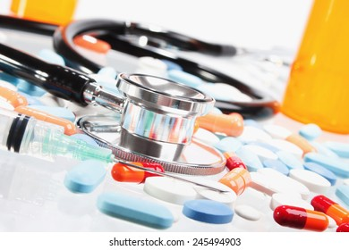 Stock image of Healthcare concept still life