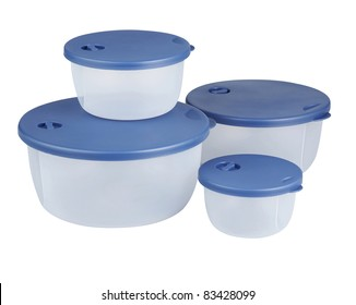 stock image of the plastic container with clipping path
