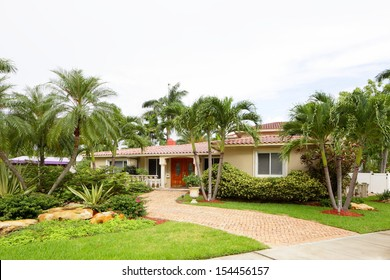 Stock image of a South Florida single family house