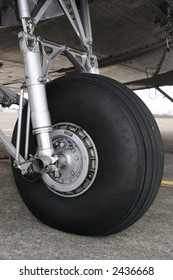A stock image of vintage DC3 landing gear.