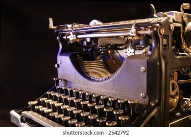 A stock image of a vintage typewriter. 1940's era.