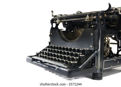 A stock image of a vintage typewriter. Isolated on white.