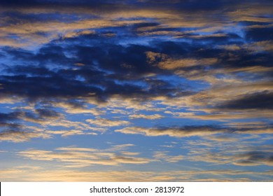 A stock image of the western sky at dusk.