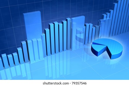Stock Market Bars & Pie Chart