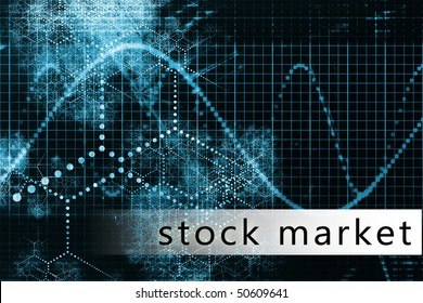 Stock Market in a Blue Data Background Art