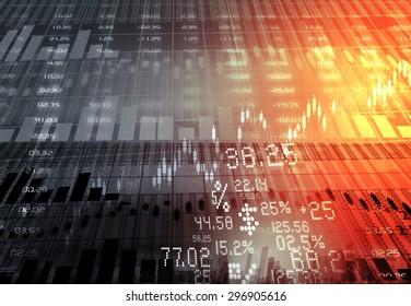 Stock market chart background