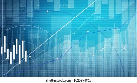 Stock market chart. Business graph background.