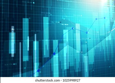 Stock market chart. Business graph background.